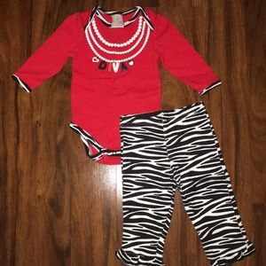 Baby girls set size 6-9 months